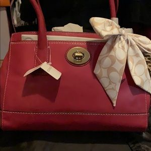 "Medium coach ""Madeline"" tote magenta"